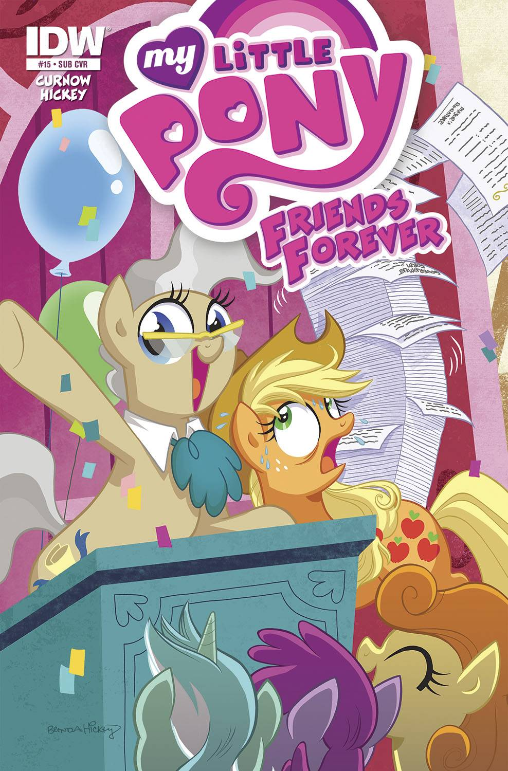 MLP Friends Forever #15 Comic Cover