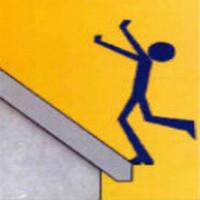 chute d'une toiture