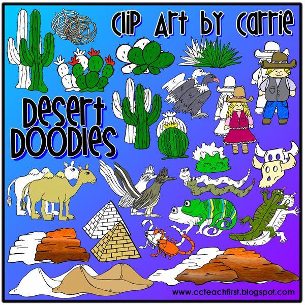 Clip Art by Carrie Teaching First: Desert Doodles Clip Art ...