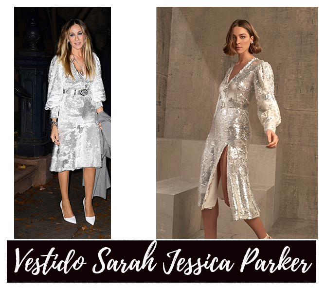 O vestido brasileiro de Sarah Jessica Parker no Late Night Show With  Seth Mayers