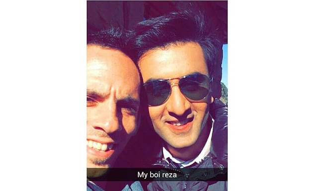 Ranbir Kapoor on snapchat
