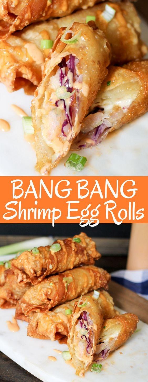 Bang Bang Shrimp Egg Rolls