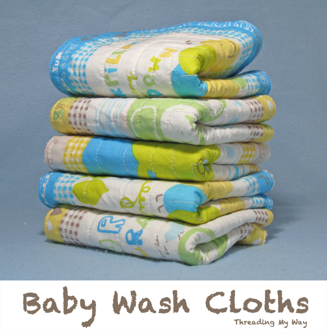 Baby wash cloths make a great gift and they are so easy to make ~ Threading My Way