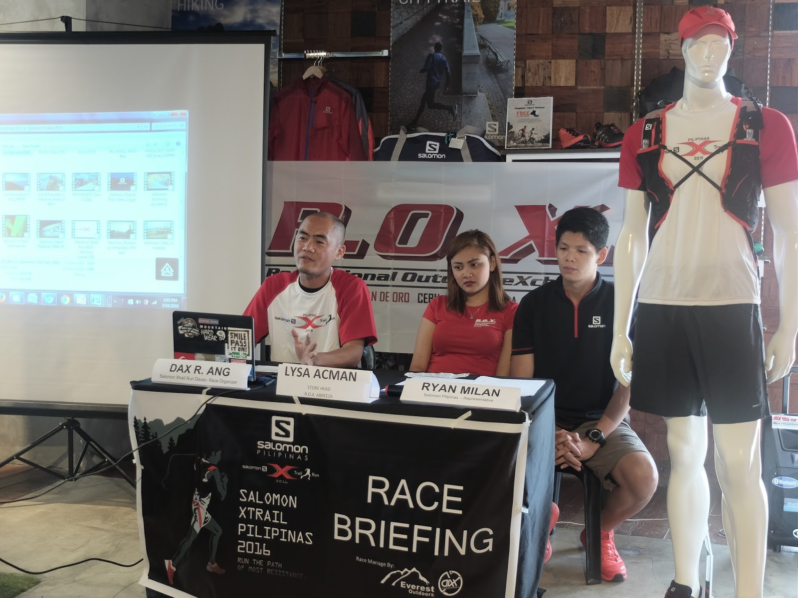 Salomon Xtrail Pilipinas 2016 Davao Race Organizer Mr. Dax Ang, Lysa Acman and Ryan Milan