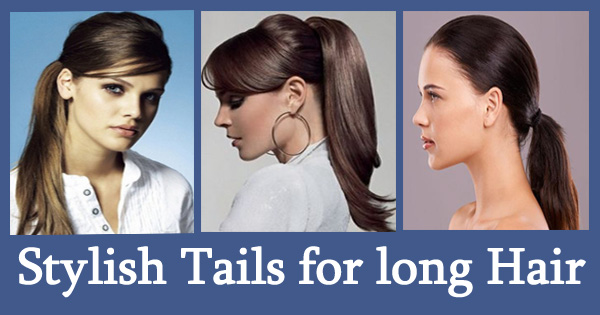Stylish Tails for long Hair