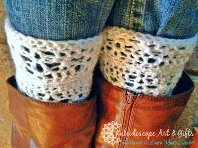 Arabella Boot Cuffs a FREE crochet pattern by Kaleidoscope Art&Gifts