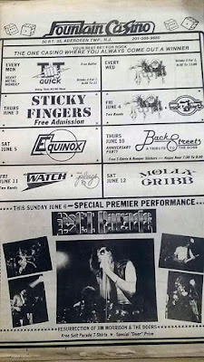 The Fountain Casino band lineup June 1983