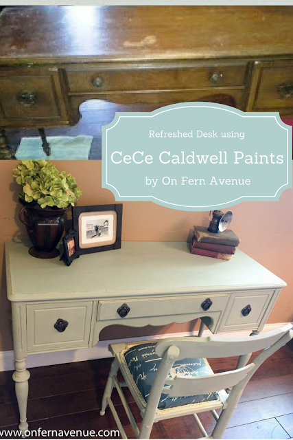 before and after painted desk