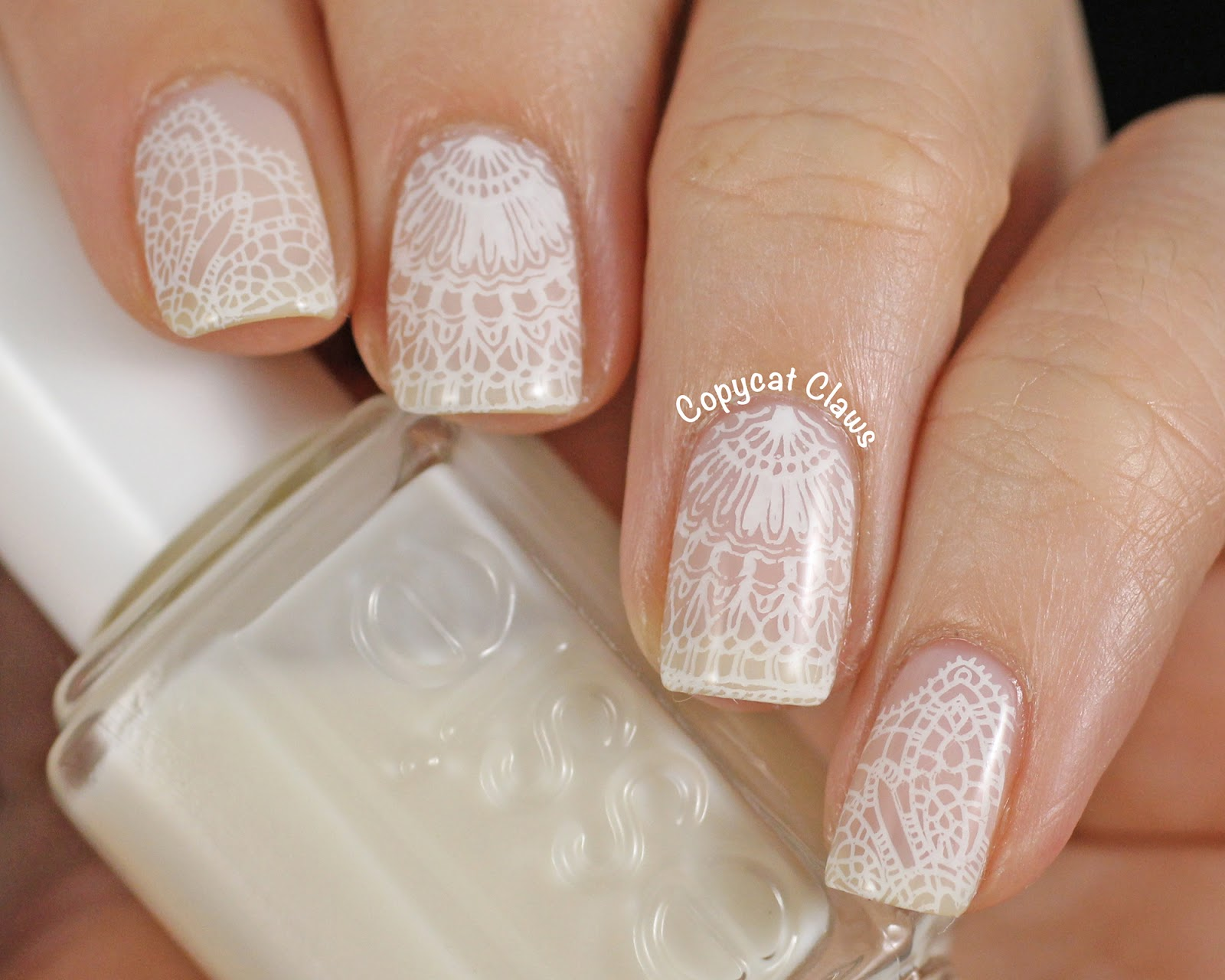 Copycat Claws: Messy Mansion Lace Nail Stamping