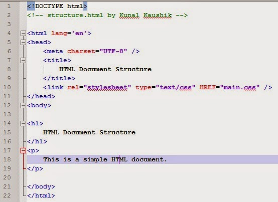 TheSparticle com: Examining the structure of an HTML document