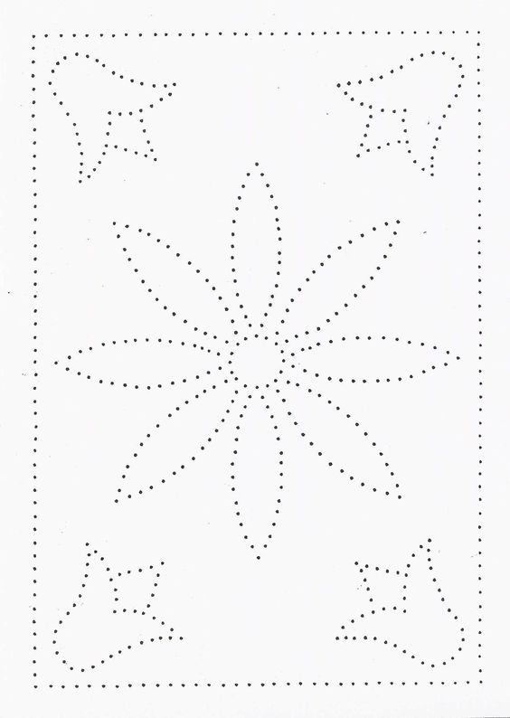 Mandala design pattern templates