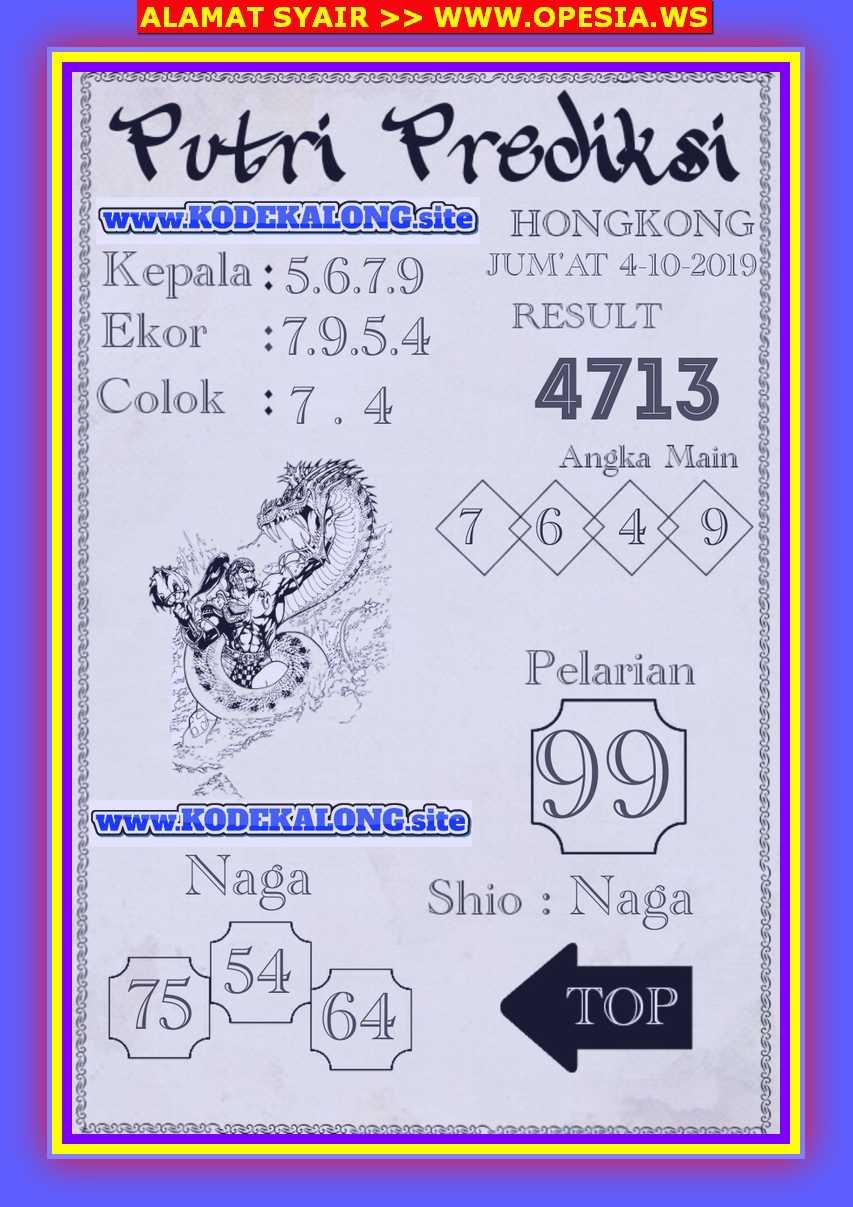 Kode syair Hongkong Jumat 4 Oktober 2019 103
