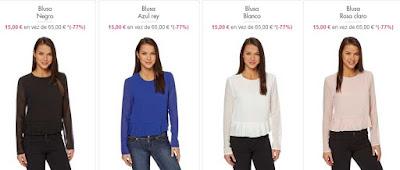Blusas baratas de colores