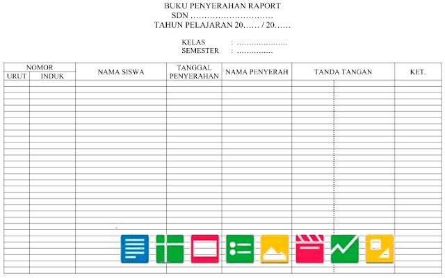 Contoh Format Daftar Serah Terima Raport Fomat Word Doc
