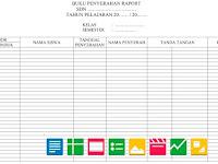 Contoh Format Daftar Serah Terima Raport   Berkas Sekolah