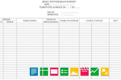 Contoh Format Daftar Serah Terima Raport | Berkas Sekolah