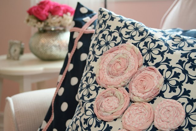 Custom Nursery Art By Kimberly: Pink & Navy For Baby D