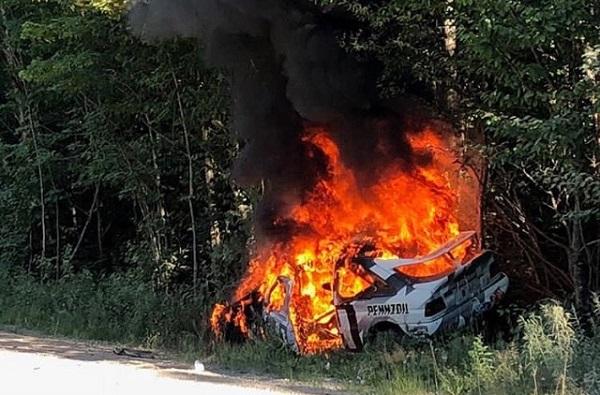 Ford Escort RS Cosworth Ken Block se prendió fuego