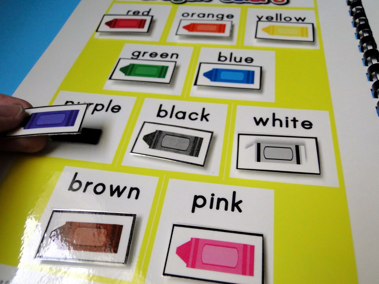Crayon Color Words Magnetmat Freebie