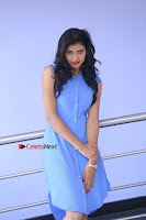 Telugu Actress Mounika UHD Stills in Blue Short Dress at Tik Tak Telugu Movie Audio Launch .COM 0053.JPG