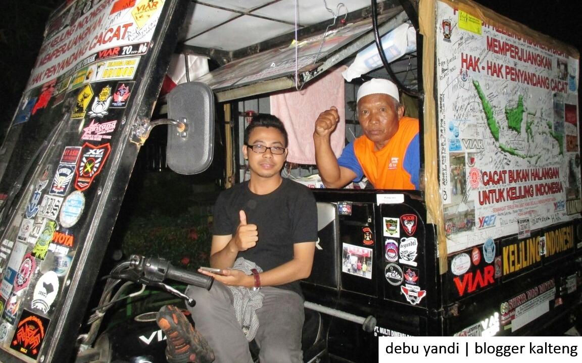 Bibit Wahyudianto, Keliling Indonesia Kampanyekan Hak Penyandang Cacat Telah Tiba di Kalteng