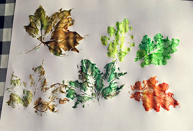 herfstbladeren maken verf