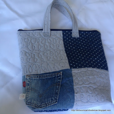 bolsa patchwork jeans