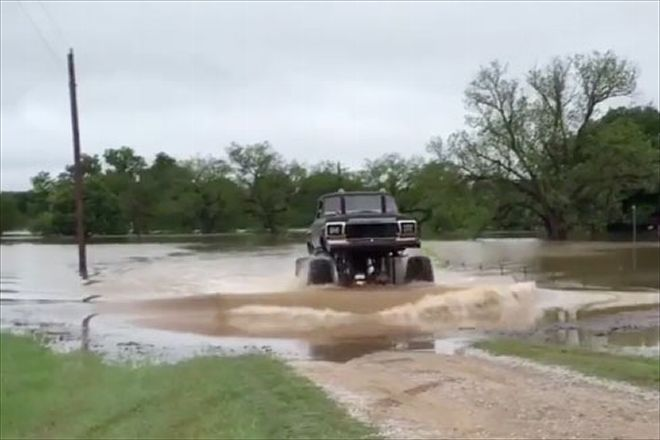 Ford Mega Truck Rescues Neighbor From Texas Flood Video