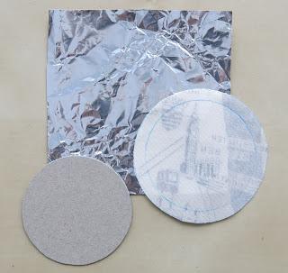 Hand applique circles - Foil method