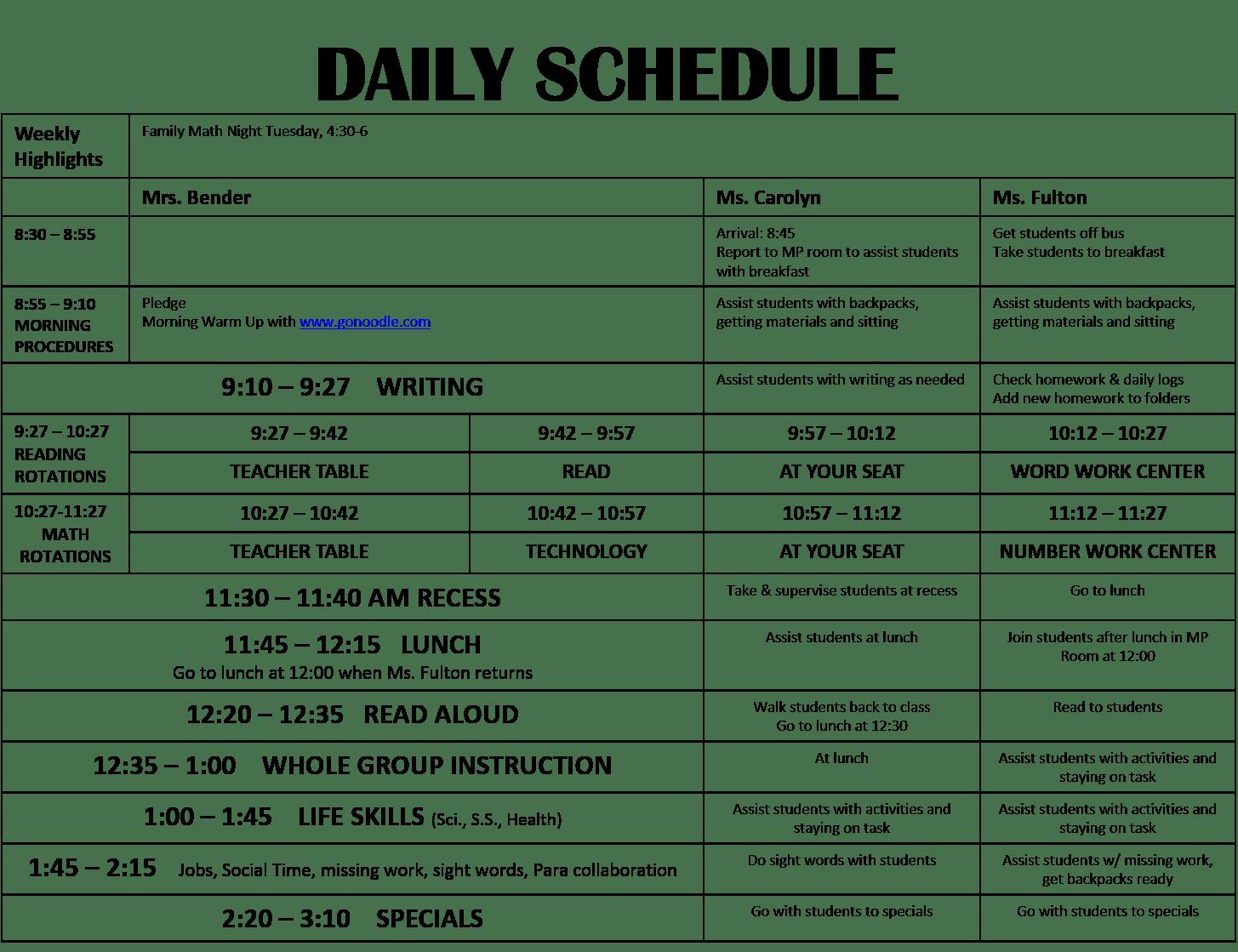 The Bender Bunch June 2015 – Life Skills Lesson Plans