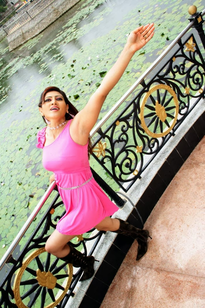 Rishika Singh hot photos in pink dress