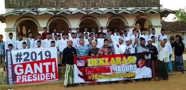 Selain Gerakan Haram Pilih Jokowi, Pemuda Madura Deklarasi #2019GantiPresiden