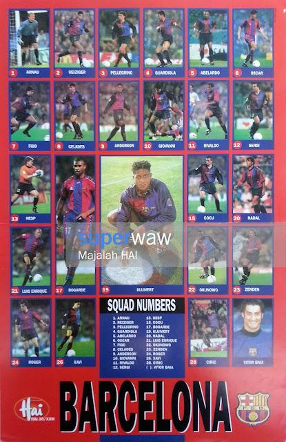 Poster Skuad Barcelona 1999
