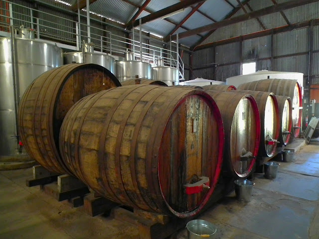 Wine casks at Seven Hills