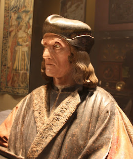 Torrigiano's extraordinarily lifelike sculpture of Henry VII in terracotta