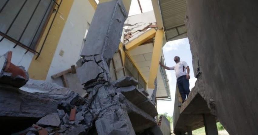 Sector educativo es el más afectado por el sismo en Loreto (Enrique Vera y Hugo Anteparra) www.elcomercio.pe