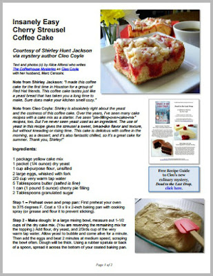 Cleo coyle recipes insanely easy cherry streusel coffee cake cherry streusel coffee cake pdf cover cleo coyleg forumfinder Image collections