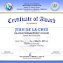 Sample Graduation Speaker Certificate & Class Certificate of Award (Top 5) Templates