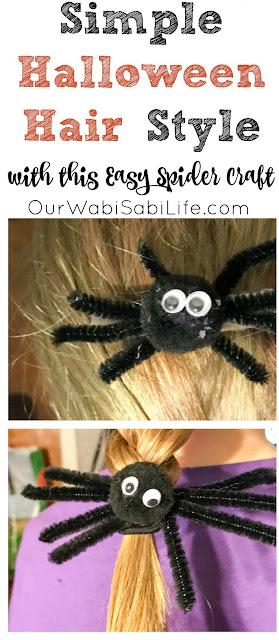 halloween hair spiders