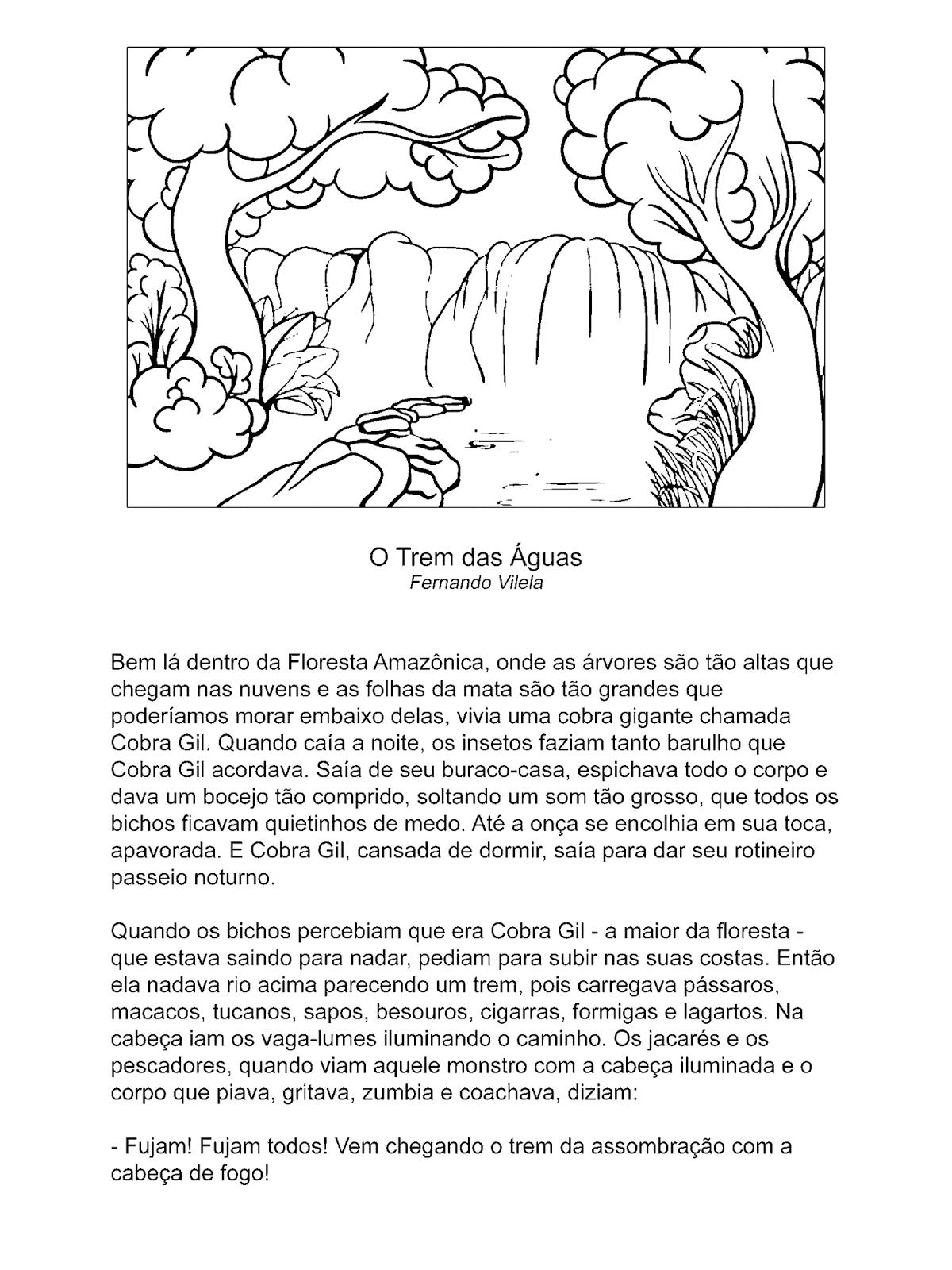 O Trem das Águas  Conto de autoria de Fernando Vilela sobre a gigante Cobra Gil que vivia na Floresta Amazônica.