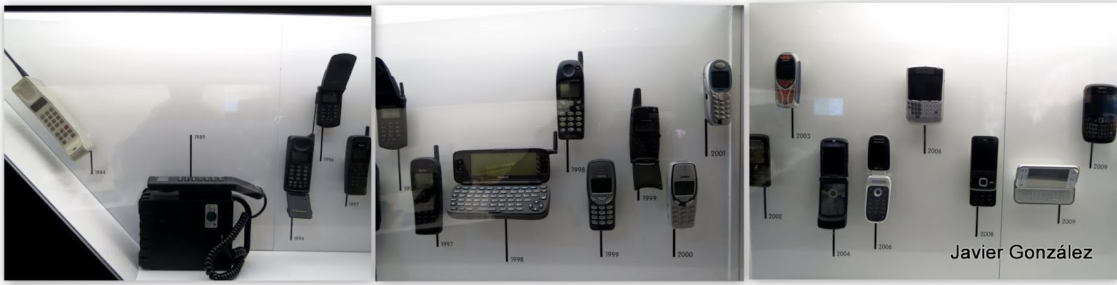 Evolución del teléfono móvil hasta nuestros días Evolution of mobile phone to the present day