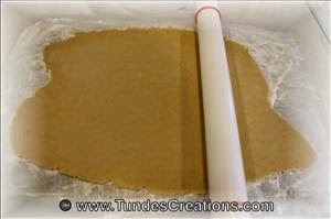 Rolling out gingerbread dough