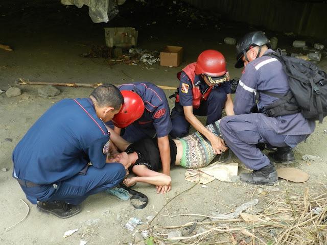 Joven fue rescatada tras querer lanzarse del viaducto de La Beatriz
