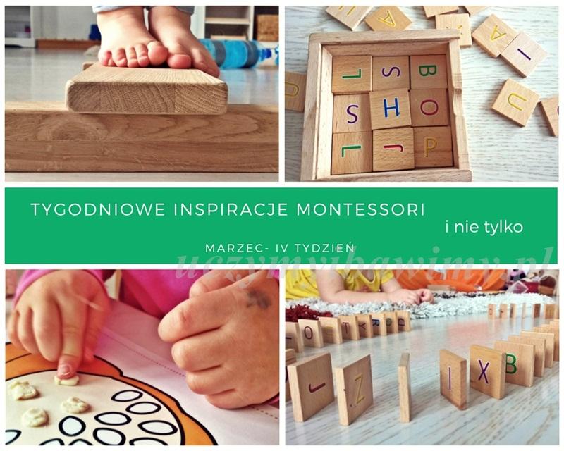 Tygodniowe inspiracje Montessori - MARZEC - IV TYDZIEŃ