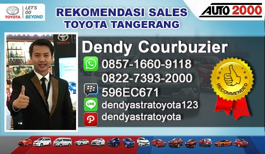 Rekomendasi Sales Toyota Auto2000 TangCity