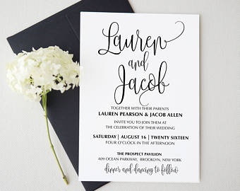 Wedding Invitation Cheap Package