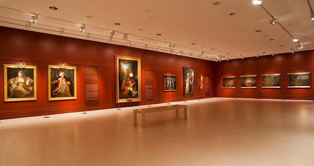 Acervo de pinturas do Museu Pera em Istambul na Turquia