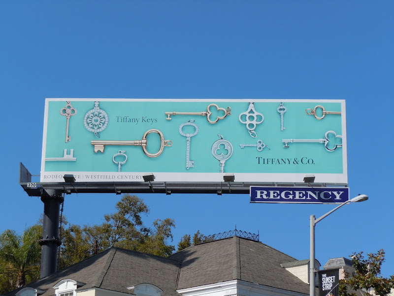 Tiffany keys billboard