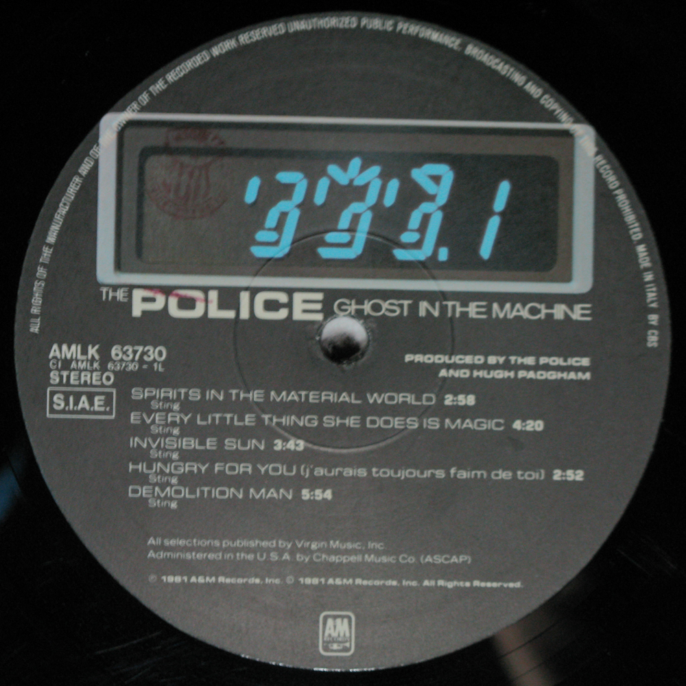 Vinyl2496 The Police Ghost In The Machine 1981 2496 Lp
