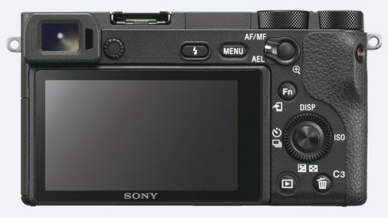 Sony a6500 rear view